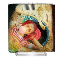 Bubblegum Pop Shower Curtain by Aimee Stewart