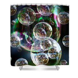 Bubbles And More Bubbles Shower Curtain