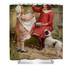 Bubbles Shower Curtain by George Sheridan Knowles