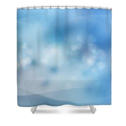 Bubbles Shower Curtain by Les Cunliffe
