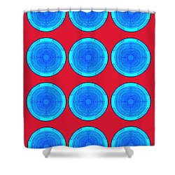 Bubbles Minty Blue Poster Shower Curtain