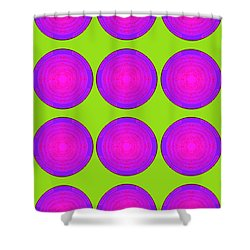Bubbles Lime Purple Poster Shower Curtain