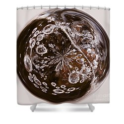 Bubbles Within Bubble Shower Curtain by Anne Gilbert
