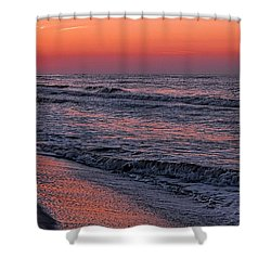 Bubbling Surf Shower Curtain by Michael Thomas