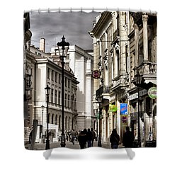 Bucharest The Little Paris Shower Curtain