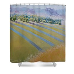 Buck Mountain Vineyards No.2 Shower Curtain by Catherine Twomey