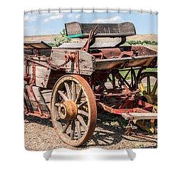 Buckboard Wagon Shower Curtain