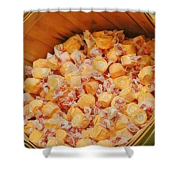 Shower Curtain featuring the photograph Bucket Of Taffy by Cynthia Guinn