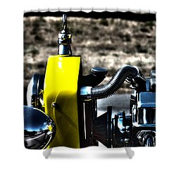 Shower Curtain featuring the photograph Bucket Roadster II by Lesa Fine