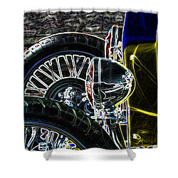Shower Curtain featuring the digital art Bucket Roadster by Lesa Fine