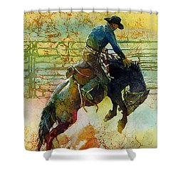 Bucking Rhythm Shower Curtain