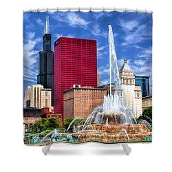 Buckingham Fountain Sears Tower Shower Curtain