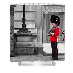 Buckingham Palace Guards Shower Curtain by Matt Malloy