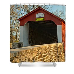 Bucks County Van Sant Covered Bridge Shower Curtain