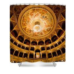 Budapest Opera House Auditorium Shower Curtain