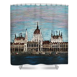 Budapest Parliament By Jasna Gopic Shower Curtain