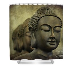 Buddha Bronze Shower Curtain