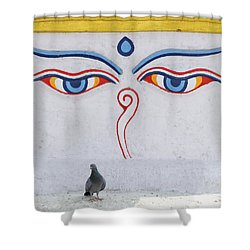 Buddha Eyes Shower Curtain