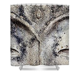 Shower Curtain featuring the photograph Buddha Eyes by Roselynne Broussard