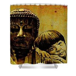 Buddha Girl Shower Curtain by Richard Tito