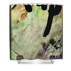 Buddha Ink Brush Calligraphy Shower Curtain by Peter v Quenter