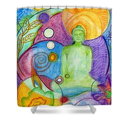 Buddha Of Infinite Possibilities Shower Curtain