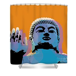 Buddha Pop Art - Warhol Style Shower Curtain
