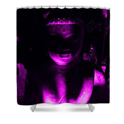 Buddha Reflecting Purple Shower Curtain