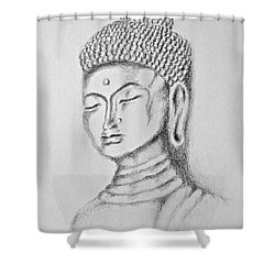 Buddha Study Shower Curtain