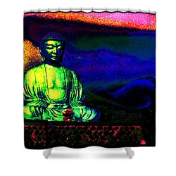 Shower Curtain featuring the photograph Buddha by Susanne Still