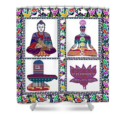 Buddha Yoga Chakra Lotus Shivalinga Meditation Navin Joshi Rights Managed Images Graphic Design Is A Shower Curtain