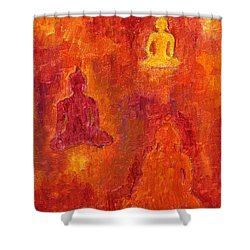 Buddhas Of Compassion Shower Curtain