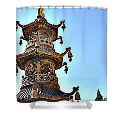 Buddhist Bells Shower Curtain