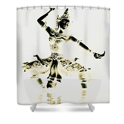 Buddhist Dancer Shower Curtain by Ramona Johnston