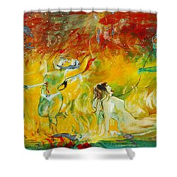 Buddhist Hell Shower Curtain by RicardMN Photography