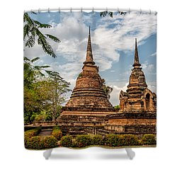 Buddhist Park Shower Curtain by Adrian Evans