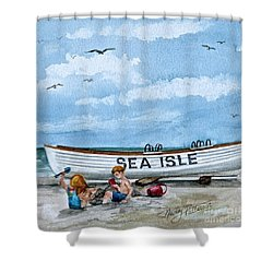 Buddies In Sea Isle City 2 Shower Curtain