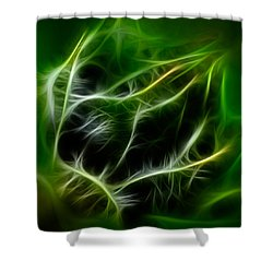 Shower Curtain featuring the painting Budding Beauty by Omaste Witkowski
