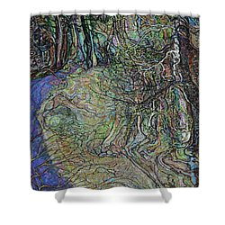 Budding Trees Shower Curtain