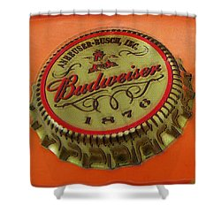 Budweiser Cap Shower Curtain by Tony Rubino