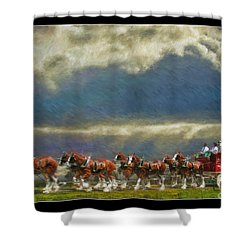 Budweiser Clydesdale Paint 2 Shower Curtain