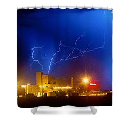 Budweiser Power Shower Curtain by James BO  Insogna