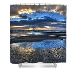Bue Sky Reflections Shower Curtain
