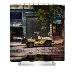 Buenos Aires Jeep Under The Rain Shower Curtain