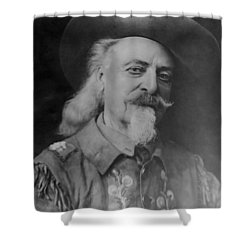 Shower Curtain featuring the photograph Buffalo Bill Cody by Charles Beeler