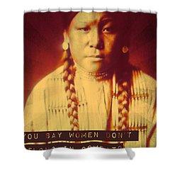 Buffalo Calf Road Woman Shower Curtain by Michelle Dallocchio