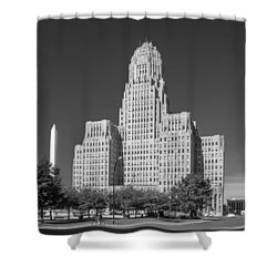 Buffalo City Hall 0519b Shower Curtain
