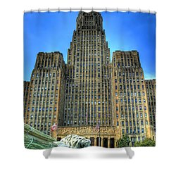 Buffalo City Hall Shower Curtain by Tammy Wetzel
