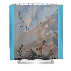 Buffalo Dancer Shower Curtain