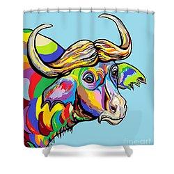 Buffalo Shower Curtain by Eloise Schneider